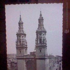 Postales: CATEDRAL SANTA MARIA REDONDA CIRCULADA LOGROÑO ED GARRABELLA . Lote 53455549