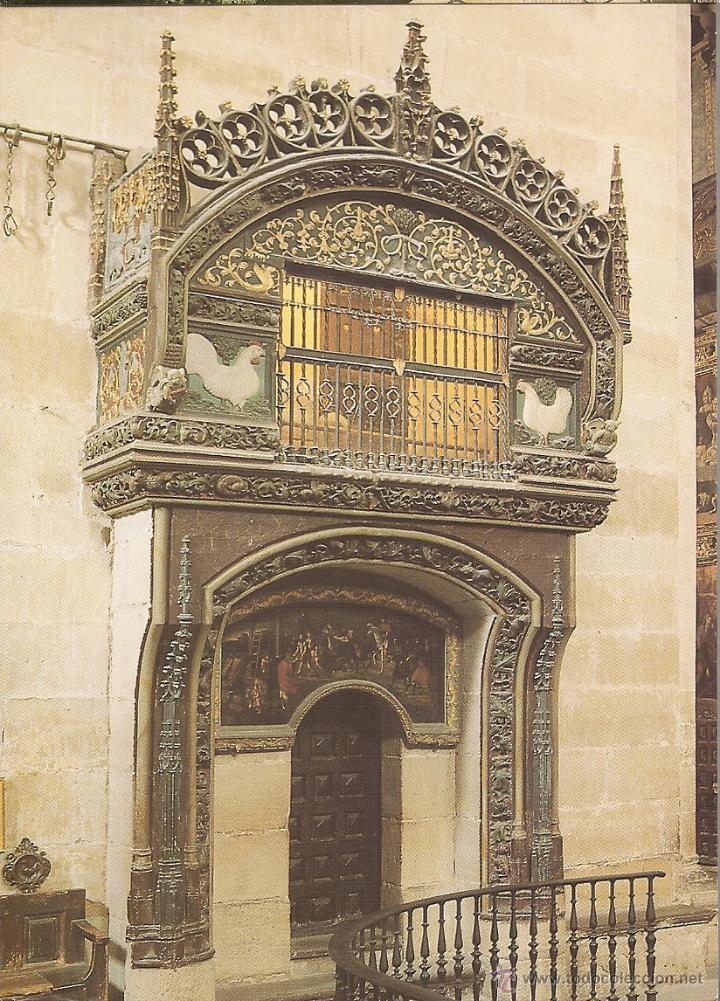 POSTAL, SANTO DOMINGO DE LA CALZADA, CATEDRAL, GALLINERO S. XV, SIN CIRCULAR (Postales - España - La Rioja Moderna (desde 1.940))