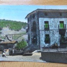 Postales: ORTIGOSA DE CAMEROS (LA RIOJA) PANORAMICA DE LA PLAZA Y VIADUCTO DE SAN MARTIN AL FONDO.. Lote 56044740