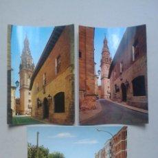 Postales: LOTE DE 3 POSTALES DE SANTO DOMINGO DE LA CALZADA. LOGROÑO.. Lote 56722545