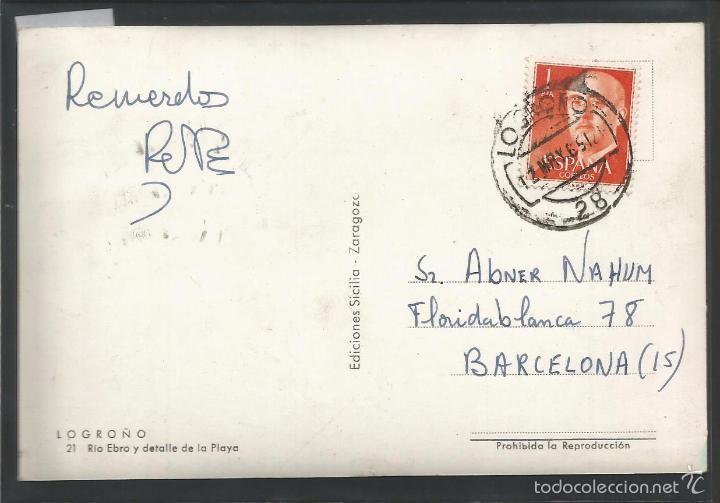 Postales: LOGROÑO - 21 - RIO EBRO Y DETALLE DE LA PLAYA - EDICIONES SICILIA - (43.411) - Foto 2 - 57019959