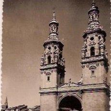 Postales: ANTIGUA POSTAL 16 LOGROÑO TORRES GEMELAS DE LA REDONDA ESCRITA 1960 EDICIONES SICILIA. Lote 58010617