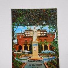 Postales: POSTAL MONUMENTO A MARCO FABIO QUINTILIANO. CALAHORRA. AL FONDO CASA CONSISTORIAL. TDKP7. Lote 58223752