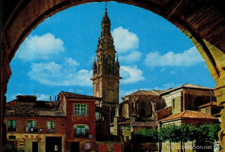 VESIV POSTAL SANTO DOMINGO DE LA CALZADA Nº7467 VISTA GENERAL Y TORRE CATEDRAL (Postales - España - La Rioja Moderna (desde 1.940))