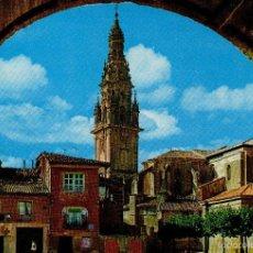 Postales: VESIV POSTAL SANTO DOMINGO DE LA CALZADA Nº7467 VISTA GENERAL Y TORRE CATEDRAL. Lote 58484484