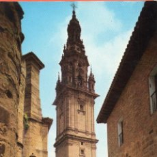 Postales: VESIV POSTAL SANTO DOMINGO DE LA CALZADA TORRE DE LA CATEDRAL. Lote 58484563