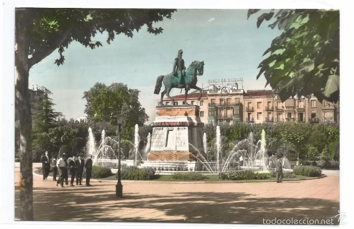 LOGROÑO .- ESTATUA GENERAL ESPARTERO .- EDICIONES ARRIBAS Nº 36 (Postales - España - La Rioja Moderna (desde 1.940))