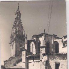 Postales: POSTAL DE S. DOMINGO DE LA CALZADA .TORRE Y ABSIDE DE LA CATEDRAL .. Lote 61566272