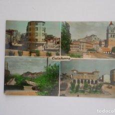 Postales: POSTAL DE CALAHORRA. BANCO SANTANDER Y CALLE MARTIRES. CATEDRAL Y PALACIO... TDKP7. Lote 61907100
