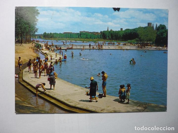 Postal logro o piscinas en el rio ebro comprar postales for Piscinas con toboganes en la rioja