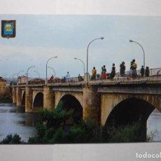 Postales: POSTAL LOGROÑO PUENTE DE PIEDRA RIO EBRO. Lote 61943400