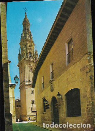 POSTAL * STO. DOMINGO DE LA CALZADA , PARADOR NACIONAL , TORRE CATEDRAL * (Postales - España - La Rioja Moderna (desde 1.940))