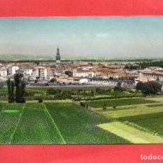 Postales: SANTO DOMINGO DE LA CALZADA. 27 VISTA GENERAL. COLOREADA. MONTAÑÉS. Lote 63740291