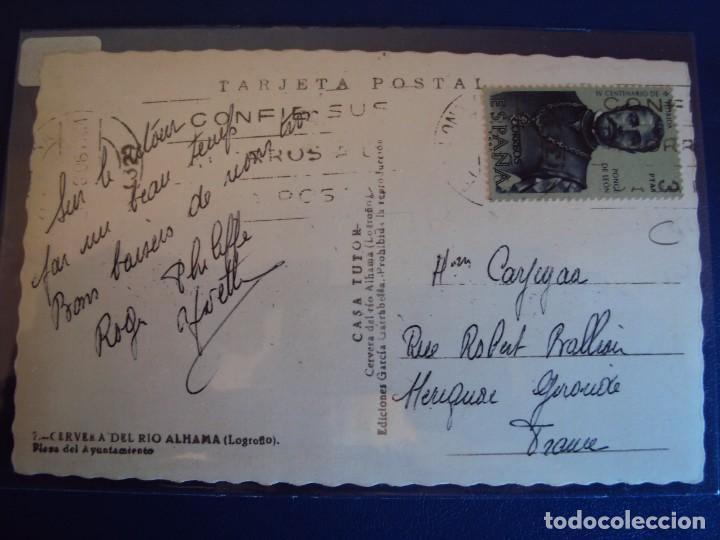 Postales: (PS-50408)POSTAL DE CERVERA DEL RIO ALHAMA-PLAZA DEL AYUNTAMIENTO - Foto 2 - 68150385