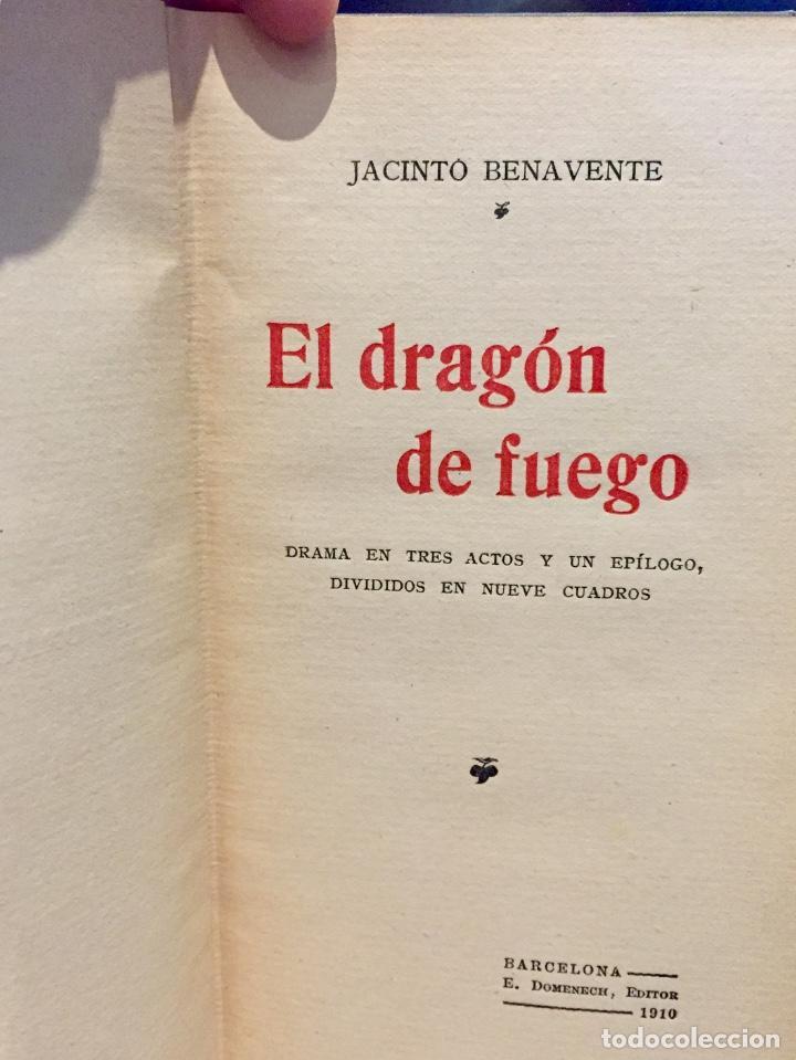 Postales: Jacinto benavente el dragón de fuego teatro 1edicion 1910 Barcelona - Foto 7 - 68305109