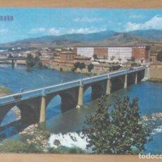 Postais: LOGROÑO - PUENTE SOBRE RIO EBRO. Lote 68578849