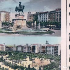 Postales: POSTAL LOGROÑO - MONUMENTO A ESPARTERO Y FUENTE VISTA GENERAL DE EL ESPOLON - CIRCULADA. Lote 75036699