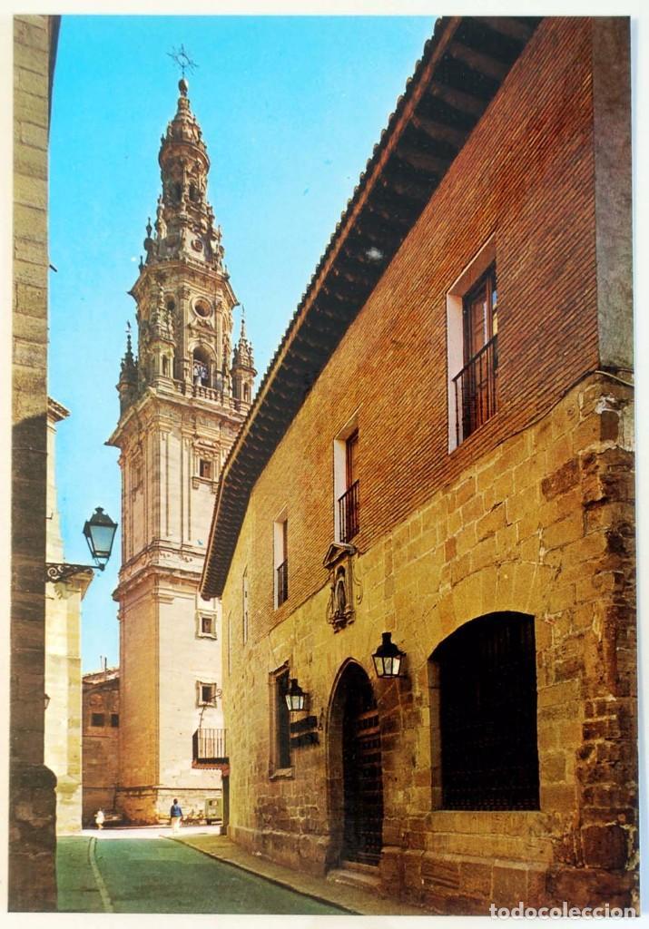 LA RIOJA. LOGROÑO. SANTO DOMINGO DE LA CALZADA. PARADOR NACIONAL Y TORRE DE LA CATEDRAL. (Postales - España - La Rioja Moderna (desde 1.940))
