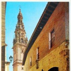 Postales: LA RIOJA. LOGROÑO. SANTO DOMINGO DE LA CALZADA. PARADOR NACIONAL Y TORRE DE LA CATEDRAL.. Lote 79749937