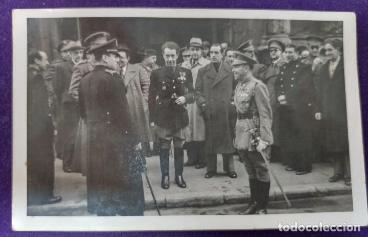 POSTAL FOTOGRAFICA DE LOGROÑO (LA RIOJA). AUTORIDADES.GOBERNADOR CIVIL BALLESTERO.1945.FOTO PALACIOS (Postales - España - La Rioja Moderna (desde 1.940))