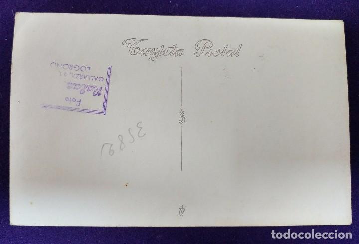 Postales: POSTAL FOTOGRAFICA DE LOGROÑO (LA RIOJA). AUTORIDADES.GOBERNADOR CIVIL BALLESTERO.1945.FOTO PALACIOS - Foto 2 - 80845543