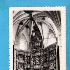 Postales: POSTAL DE EZCARAY ALTAR MAYOR DE LA PARROQUIA Nº 18 EDITOR M. ARRIBAS CIRCULADA EL AÑO 1957. Lote 87511616