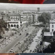 Cartoline: POSTAL FOTOGRÁFICA DE LOGROÑO LAS ÚLTIMAS BLANCO Y NEGRO AÑOS 60. Lote 89476826