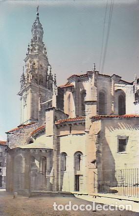 POSTAL SANTO DOMINGO DE LA CALZADA TORRE Y ABSIDE DE LA CATEDRAL (Postales - España - La Rioja Moderna (desde 1.940))