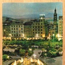 Postales: LOGROÑO - FUENTE LUMINOSA DEL ESPOLON. Lote 95412255