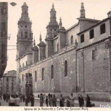 Postales: LOGROÑO.- IGLESIA DE LA REDONDA Y CALLE DEL GENERAL MOLA. Lote 95669959