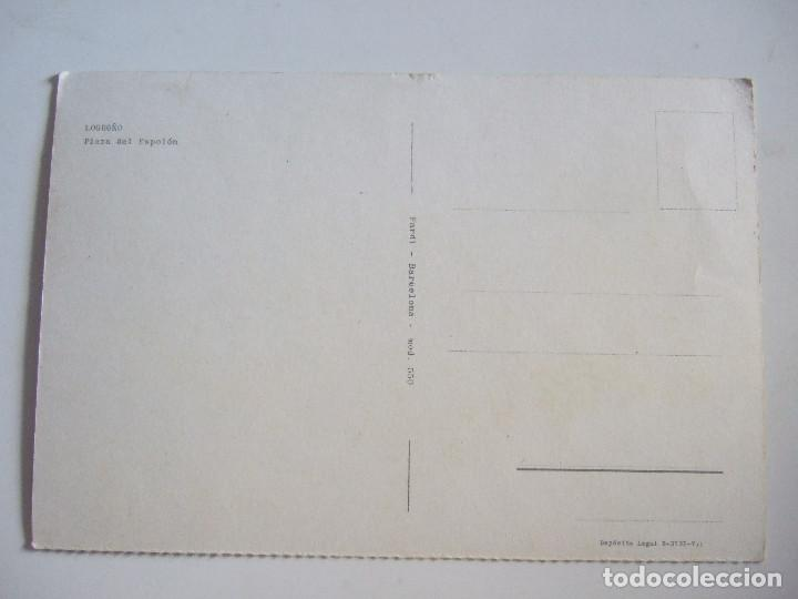 Postales: POSTAL LOGROÑO - PLAZA DEL ESPOLON - 1964 - FARDI 550 - SIN CIRCULAR - Foto 2 - 98034407