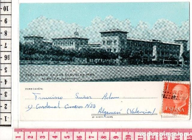 D50 POSTAL DE ALBELDA LOGROÑO, AÑO 1968, SEMINARIO PIAS COLEGIO DE TEOLOGIA (Postales - España - La Rioja Moderna (desde 1.940))