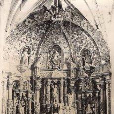 Postales: SAN ROMAN LOGROÑO 1950 ALTAR DE LA IGLESIA PARROQUIAL. Lote 103530783