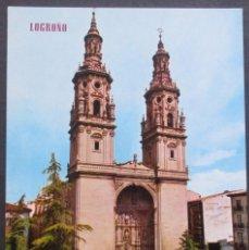 Postales: LOGROÑO -TORRES DE LA CATEDRAL REDONDA- SIN CIRCULAR / P-1111. Lote 103718051