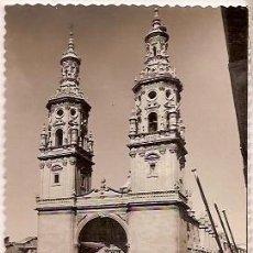 Postales: ANTIGUA POSTAL 18 LOGROÑO TORRES GEMELAS DE LA REDONDA ESCRITA 1959 EDICIONES SICILIA. Lote 103745719