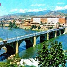 Postales: LOGROÑO -PUENTE SOBRE EL RIO EBRO- (EDICIONES PARÍS - J.M. Nº 193) SIN CIRCULAR / P-1188. Lote 104291463