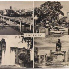Postales: POSTAL DE LOGROÑO VISTAS - CIRCULADA EN 1963 - C-3. Lote 105000875