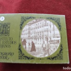 Postales: 10 POSTALES LOGROÑO AYER, 1982 INSTITUTO ESTUDIOS RIOJANOS, REPROD. AÑOS 20, Nº 3. Lote 120257511