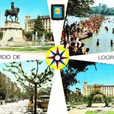 Postales: LOGROÑO -DIVERSAS VISTAS.. LEER- (DOMINGUEZ Nº 25) SIN CIRCULAR / P-4150. Lote 128046567
