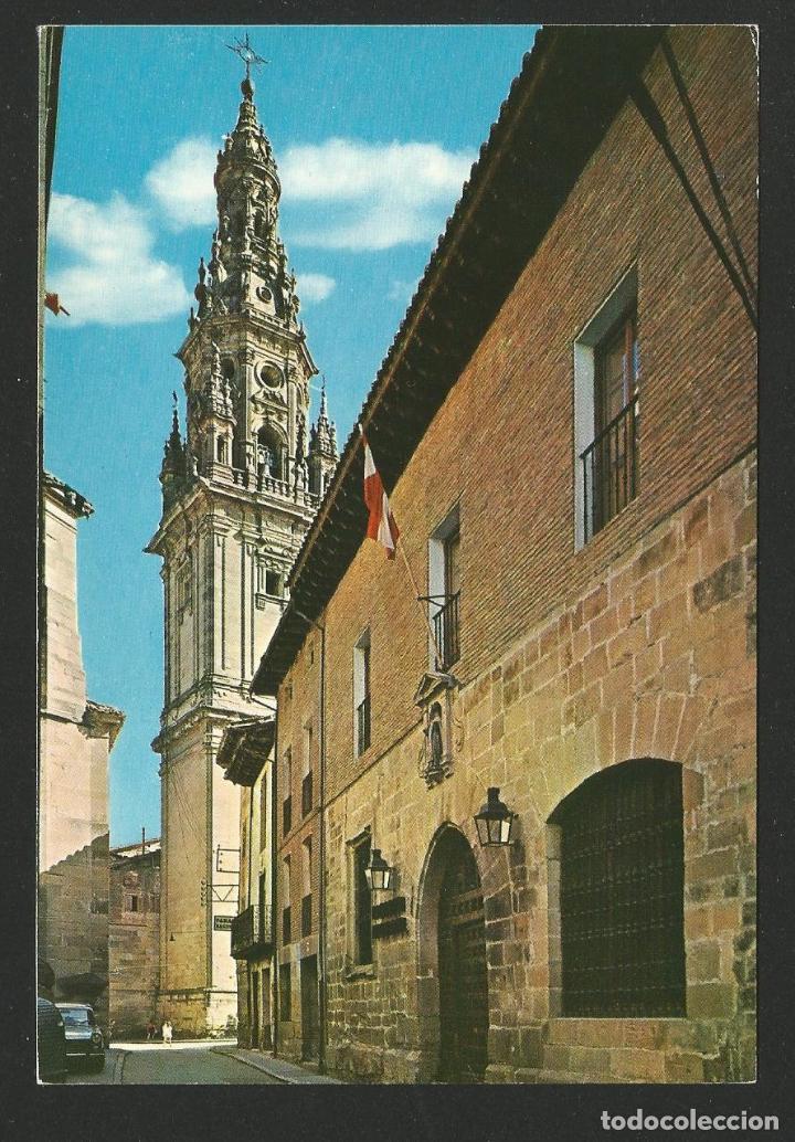 SANTO DOMINGO DE LA CALZADA - PARADOR NACIONAL Y TORRE CATEDRAL - P26691 (Postales - España - La Rioja Moderna (desde 1.940))