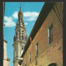Postales: SANTO DOMINGO DE LA CALZADA - PARADOR NACIONAL Y TORRE CATEDRAL - P26691. Lote 130286818