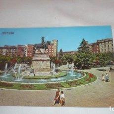Postales: LOGROÑO POSTAL SIN CIRCULAR AÑOS 70- FUENTE DEL GENERAL ESPARTERO. Lote 132926866