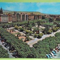 Postales: LOGROÑO. 13 EL ESPOLÓN. ED. ALARDE. USADA. COLOR. DORSO: DOS CHARNELAS. Lote 133785566