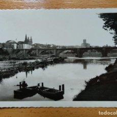 Postales: LOGROÑO - VISTA PARCIAL Y PUENTE DE PIEDRA . EDICIONES ARRIBAS Nº11.. Lote 155765534