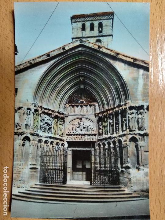 LOGROÑO PORTADA DE SAN BARTOLOMÉ. POSTALES VICTORIA. Nº 23 (Postales - España - La Rioja Moderna (desde 1.940))