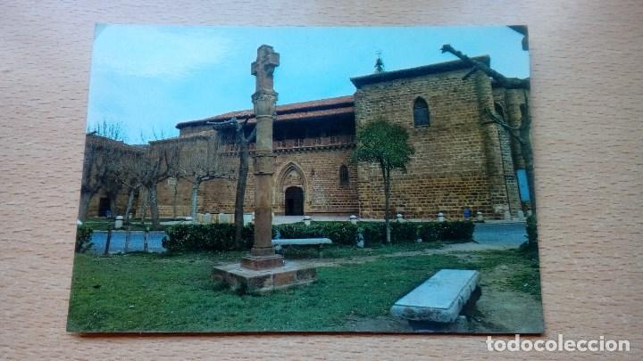 POSTAL ANTIGUA DE EZCARAY LA RIOJA IGLESIA PARROQUIAL Y CRUZ DE PIEDRA CIRCULADA (Postales - España - La Rioja Moderna (desde 1.940))