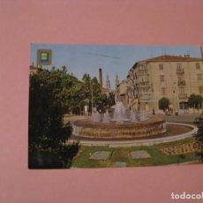 Postales: POSTAL DE LOGROÑO. FUENTE LUMINOSA. PLAZA DE M. DE MURRIETA. ED. DOMINGUEZ. CIECULADA 1975.. Lote 142925006