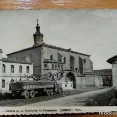Postales: FUENMAYOR. LOGROÑO. FACHADA DE LA PARROQUIA DE FUENMAYOR. (CAMIÓN). Nº534. Lote 143045434