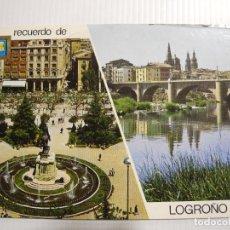 Cartes Postales: LOGROÑO. PLAZA DEL ESPOLÓN PUENTE DE PIEDRA N. 26 DOMINGUEZ. CIRCULADA 1976. Lote 144994426