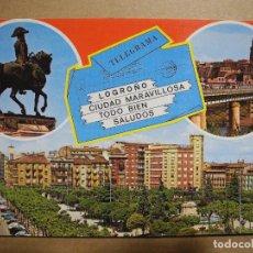 Postales: LOGROÑO. BELLEZAS DE LA CIUDAD N. 27. ED. GARCIA GARABELLA NUEVA.. Lote 147402194